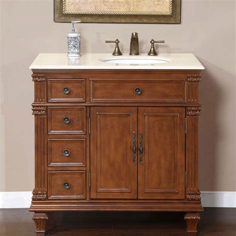 36 quot single marble stone top bathroom vanity cabinet