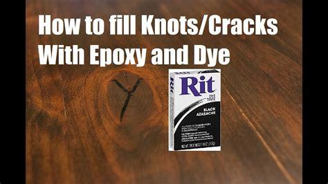 epoxy  dye  fill knots  cracks  wood youtube