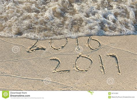 new year water new year 2017 in sand stock image image of nature