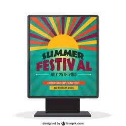 festival poster template free signboard template vector free