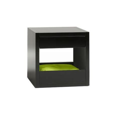 cat bed side table the bloq by binq design bloq pet bed side table black petspyjamas