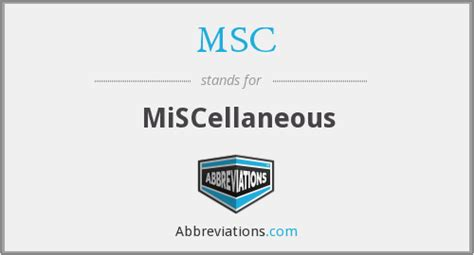 what does msc stand for