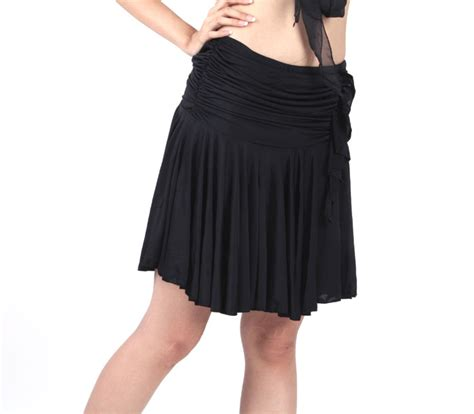 012 Rona Pant Skirt black polyester skirt tbhb 012