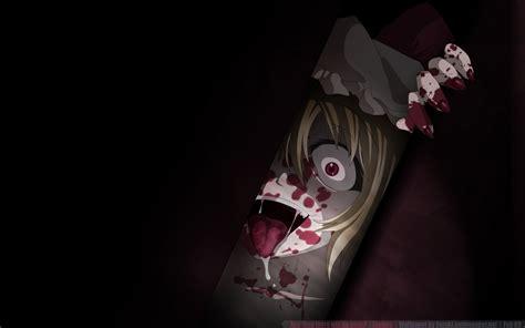 anime girl creepy wallpaper scary anime wallpaper wallpapersafari