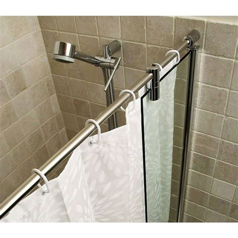 bath shower rails kudos ultimate bath shower panel curved rail uk bathrooms