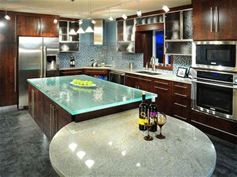 glass top kitchen island 13 best images about glass countertops on