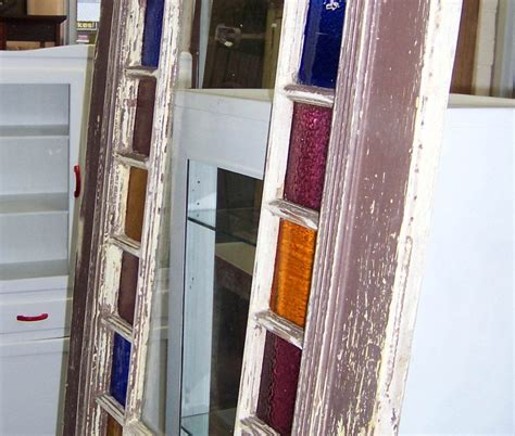colored glass panels vintage wooden door with colored glass panels vintage