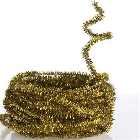 gold tinsel garland craft supplies items ideas and