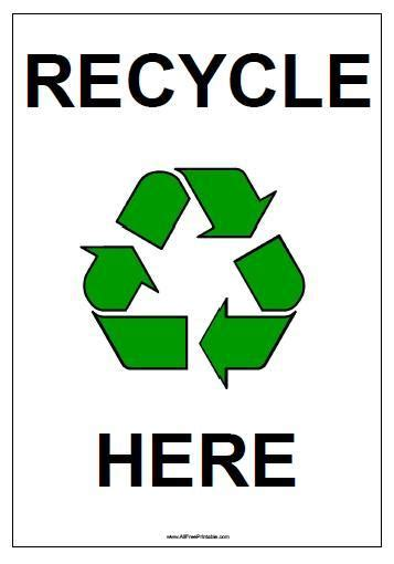 printable recycling images printable recycle sign just b cause