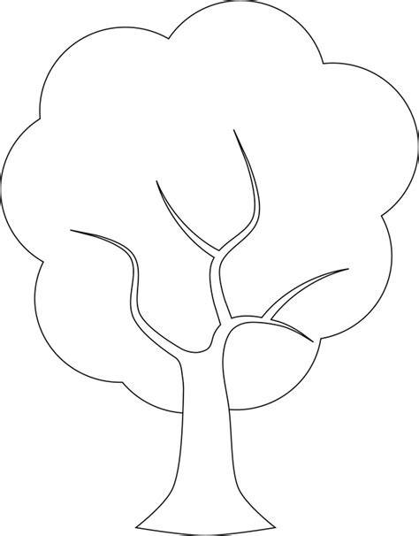 Plain Tree Coloring Page Plain Christmas Tree Coloring Home by Plain Tree Coloring Page