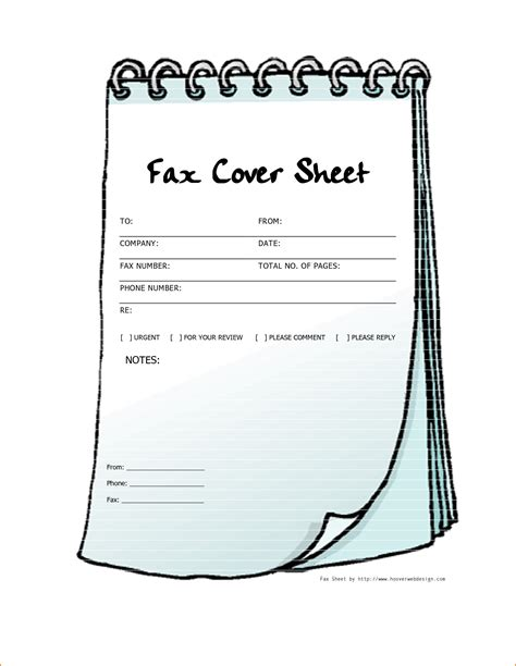 pdf download free printable fax cover sheets