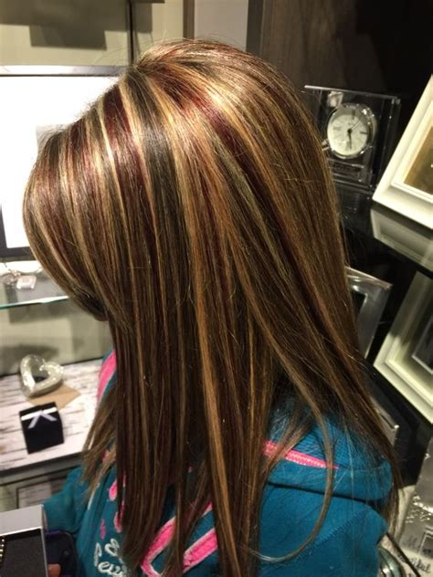 low light colors for blonde hair just got red low lights and blond highlights an my natural