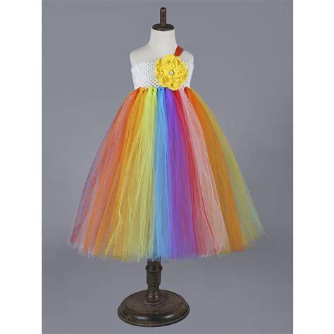 Hw Pajamas Rainbow Hk rainbow tutu dress colorful baby clothing for flower casual birthday