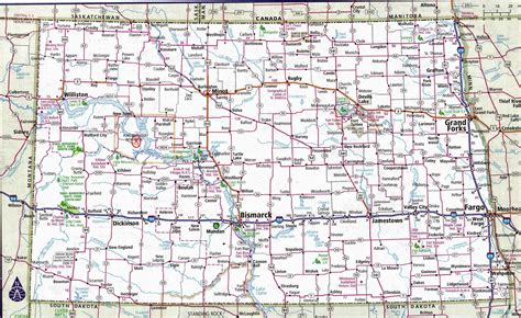 nd map dakota map