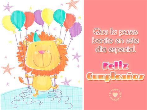 imagenes gratis de feliz cumpleaños tarjeta de feliz cumplea 241 os con le 243 n