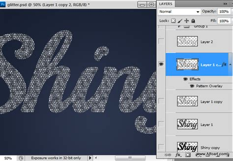 photoshop pattern in text photoshop text effects create a glitter text effect in