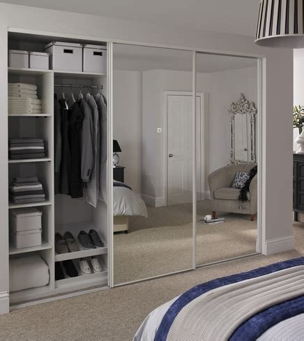 Howdens Wardrobes - white edge mirror door howdens joinery