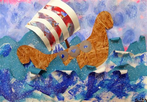 project collage template design projects stephens in the room viking ship collages