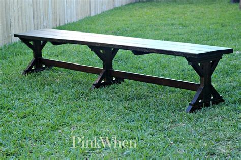farm benches build a farmhouse bench pinkwhen