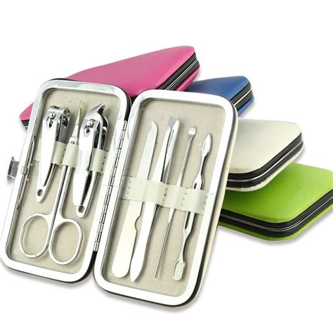 Manicure Set color pedicure manicure set portable nail clippers cleaner cuticle grooming kit ebay
