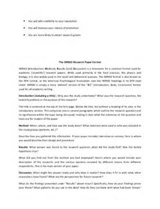 imrad format template scientific writing meaning and need