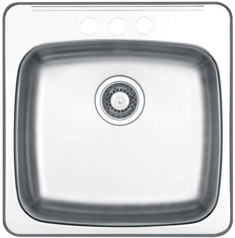 Wessan Kitchen Sinks Wessan Drop In Single Bowl Stainless Steel Sink Jr603d83 Canada Discount Canadahardwaredepot