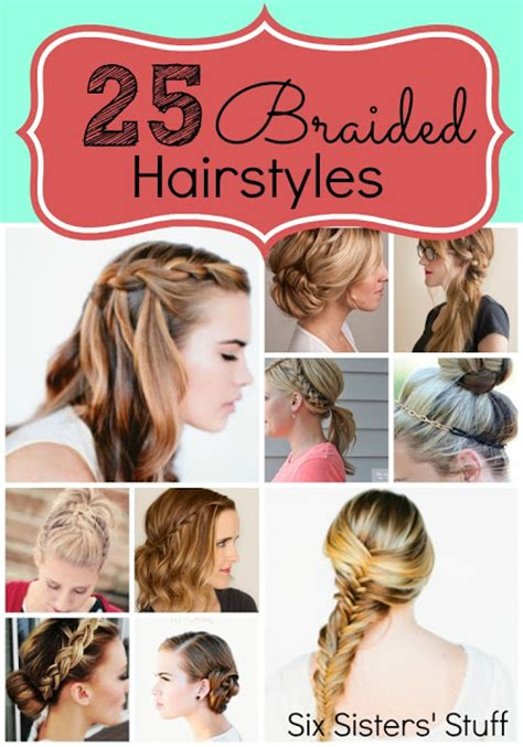 Easy Hairstyles With Braids by 25 Easy Hairstyles With Braids Six Stuff Six