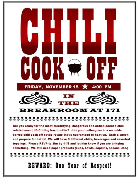 chili cook template free chili cook poster template www pixshark images
