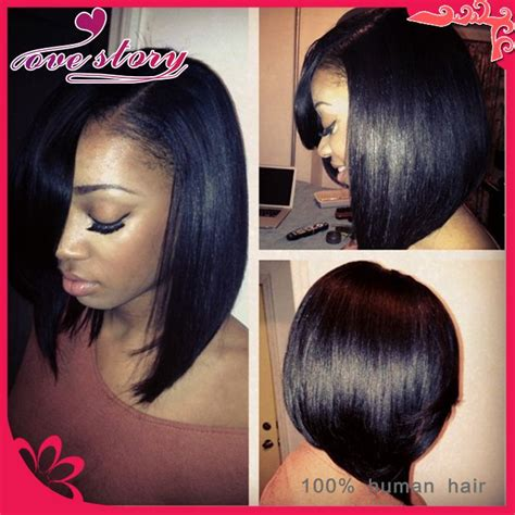 how long is the 10inch weave for black hair large stock 10 inch short lace wigs human hair bob wigs