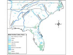 United States Major River Systems Map by River Systems In Southeastern U S