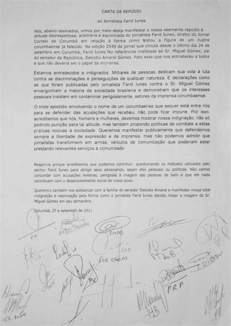 ladario carta p 233 rola news partidos e vereadores divulgam carta de