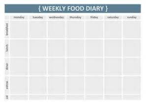 food calendar template blank calendar 2017