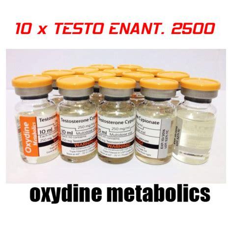 Testo Enanthate 10 x testosterone enanthate 2500 oxydine metabolics ukroids