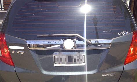 Trunklid Brio chrome rear trunk lid door trim cover 08 12 honda fit jazz