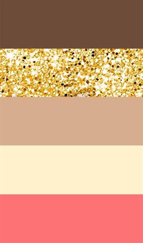 Wedding color palette idea: brown, gold, tan, ivory, pink