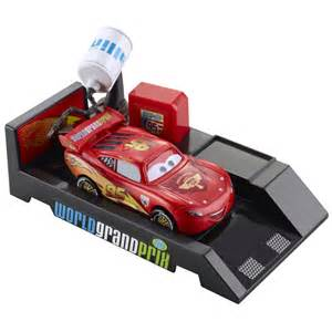 Lightning Mcqueen Car Launcher Disney Cars Toys Pit Stop Launchers Lightning Mcqueen At