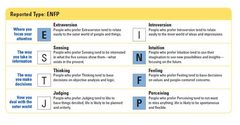 Myers Briggs Letter Meanings