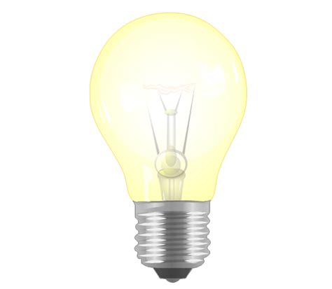 Light Bulb Incandescent by Resources And Energy Vector Stencils Library