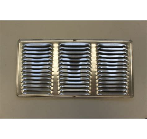 louvered light cover louvered vent cover aluminum 16 x 8