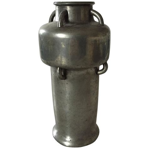 Tin Vase by Mogens Ballin Tin Vase With Handles For Sale At 1stdibs