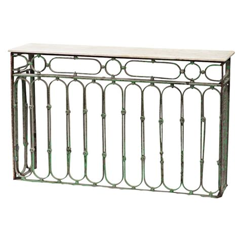 iron and marble table wrought iron and marble console table marble console