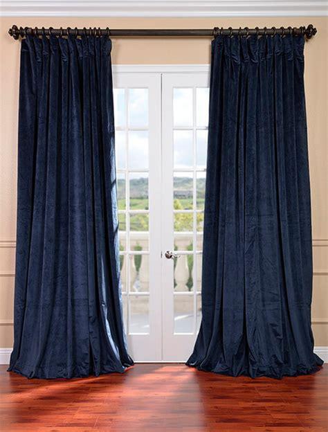 wide pocket curtains signature midnight blue double wide velvet blackout pole