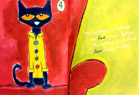 Pete The Cat Groovy Buttons pete the cat and his four groovy buttons www imgkid