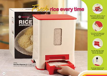 Dispenser Air Tupperware ena s stories tupperware rice dispenser