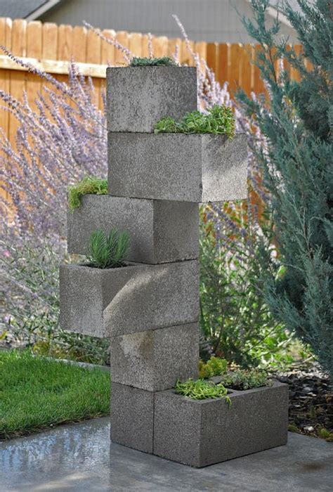 Vertical Garden The Block Diy Cinder Block Vertical Planter Gardens Planters And