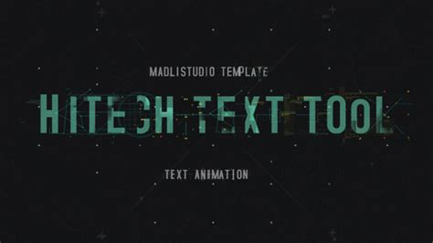 Hitech Text Tool By Madlistudio Videohive Premiere Pro Logo Animation Template