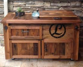 How To Build Rustic Kitchen Cabinets - reclaimed cooler bar cabinet reclaimed rustic woodworx usa handmade storage