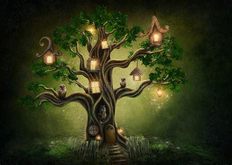 imagenes de fantasias mitologicas casa en el 225 rbol de la fantas 237 a foto de archivo imagen