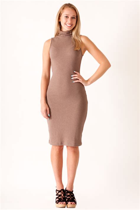 Obralll Turtleneck Bodycon Midi Tl9573 she and sky turtleneck bodycon midi dress