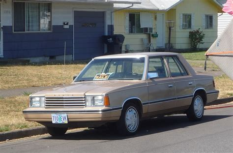 curbside classic 1983 dodge aries original k car the